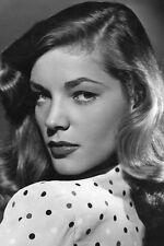 LAUREN BACALL SULTRY VINTAGE B/W PORTRAIT 24X36 POSTER