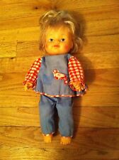 vintage 1975 Uneeda doll Female Caucasian baby/little girl Blue Cute Outfit Htf