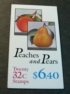 US Booklet Stamps Scott# BK178 Peaches and Pears 1995  MNH L239