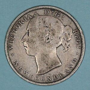 1890 Canada Newfoundland 20 Cents silver coin, VF, KM# 4