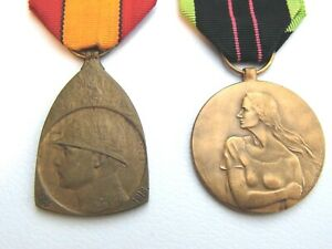 WW1/WW2 BELGIAN MEDALS COMMEMORATIVE AND RESISTANCE