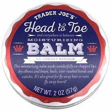 TRADER JOE'S HEAD TO TOE MOISTURIZING BALM AND BEARD BALM 2 OZ
