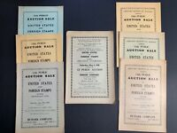 Mozian, Rumark Company, Lot of 7 Stamp Auction Catalogs, 1939-1940, Sales #11-16