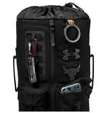 Under Armour UA x Project Rock 60 Bag Black Gym Duffle/Travel Backpack