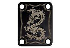 Custom Laser Etched Guitar Neck Plate - Dragon 01