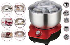 DMS 5L Robot de cocina 1400w Batidora Amasadora con Bol acero inoxidable Rojo