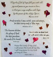 Religious Phrase Bible Verse Scrapbook Stickers