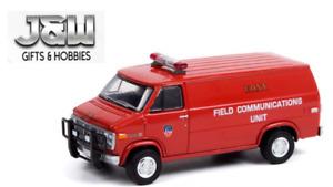 GreenLight GMC Vandura 1989 Fdny Domaine Communications Unité 30277 1/64