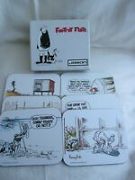Footrot Flats Set 6 Drink Coasters Boxed Very Good Condition 1986 Jason RARE
