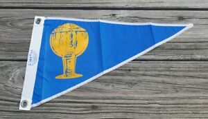 Vtg Wide Stem Goblet Pennant Flag - Taylor Made, Nylon - Boat Yacht Maritime