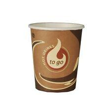 "2000 Papp Trinkbecher ""To Go"" 0,18 l Ø 7,2 cm Party Einwegbecher Kaffeebecher"