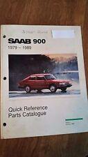 1994 -1998 Saab 900 Quick Reference Parts Catalog Manual