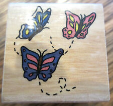 Flying Butterflies Abc Distribution Inc Exclusive Wooden Rubber Stamp