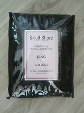 New Southshore Black King Bed Skirt