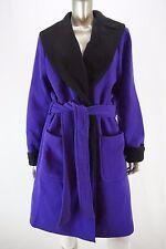 LAUREN RALPH LAUREN Wool Blend Shawl Collar Belted Wrap Coat in Purple NWOT XL