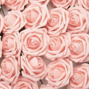 50Pcs/Set 7CM Large Artificial Flowers Foam Rose Heads Decor Party Gift Decor