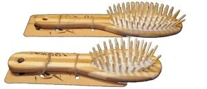 MiEco Bamboo Hair Brush Massage Scalp Eco Friendly Large Adult