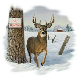 No Hunting   Deer  Sweatshirt    Sizes/Colors