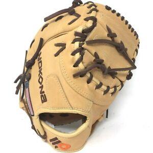S-130C-Tan-RightHandThrow Nokona Alpha Select Baseball First Base Mitt 14U Tan 1