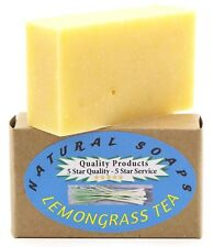 100% Natural & Organic. Handmade Lemongrass Tea Soap, Use on Hands, Face, Body