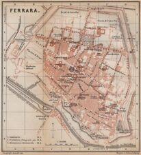 FERRARA ANTICA CITTA 'CITY Pianoforte piano urbanistico. ITALIA MAPPA 1895 VECCHIO