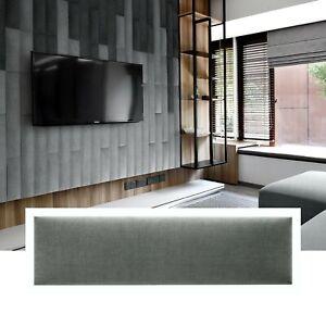 Wandpaneel Wandkissen Betthaupt Textil 3D Polster Wandpolster Rechteck 60x15 K11