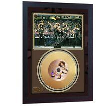 New! Tina Turner Mini Gold Vinyl CD Record Signed Autographed Framed