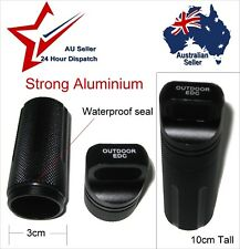 Black Waterproof Aluminium Capsule Container o ring water proof seal camping edc