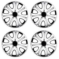 Radkappen 15 Zoll Schwarz Silber Radzierblenden Stahlfelgen für Renault 82DP