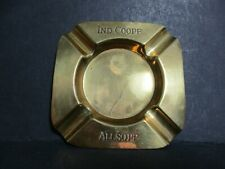 VINTAGE IND COOPE ALLSOPP BRASS ADVERTISING ASHTRAY