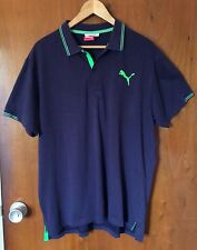 PUMA Men Polo Chemise Size XL Navy Blue Short Sleeve Golf Style 560354 Casual