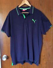 PUMA Men Polo Chemise Size XL Navy Blue Short Sleeve Golf Style 560354 Casual