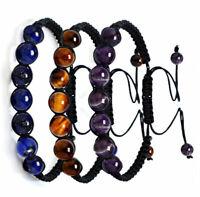 Fashion Beaded Stone Prayer Chakra Braided Yoga Balance Healing Reiki Bracelet