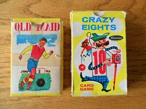 Whitman 1951 Crazy Eights Card Game & Old Maid Card Game