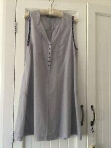 Sandwich Blue Pinstripe Cotton  Tunic Size 42 16