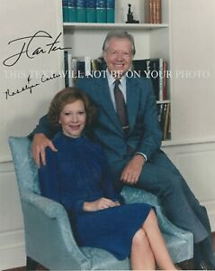 PRESIDENT JIMMY AND ROSALYNN CARTER SIGNED AUTOGRAPH 8x10 RPT PHOTO 39th