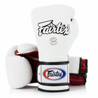 Fairtex BGV9 White Red Mexican Style Boxing Gloves Sparring Kickboxing Muay Thai