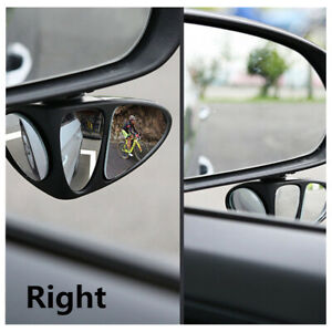 1Pcs Black Car Blind Spot Right Side View Mirror Wide Angle Rear View Mirror