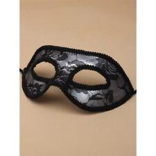 Masquerade Mask Filligree Party Glitter Ball Accessories Black Lace Silver