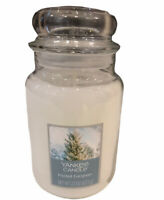 Yankee Candle Frosted Evergreen 22 oz NEW  White Christmas Scented Holiday Gift