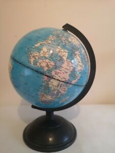 360°Rotating Educational World Globe with Swivel Stand 25cm Geography Learning