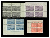 Canada 1951 Stamp Centenary Set of 4 in Imprint Blocks/4 SG436/9 Fresh MUH 10-3