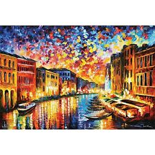 VENICE GRAND CANAL - LEONID AFREMOV ART POSTER 24x36 - 11100