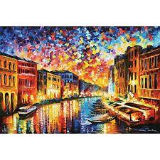 VENICE GRAND CANAL - LEONID AFREMOV ART POSTER 24x36 - 11100
