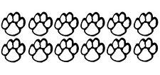 DOG PAW PRINTS Novelty Vinyl Car/Van/Bedroom/Bathroom/Kitchen Tile Stickers x12