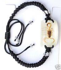 Real scorpian in luminous resin silk cord bracelet 027