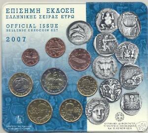 2007 Div 8 monete EURO Grecia greece grece griechenland