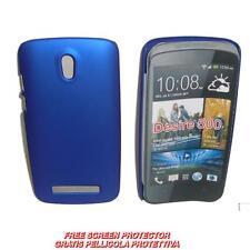 Pellicola+custodia BACK COVER RIGIDA BLU per HTC Desire 500 (A1)