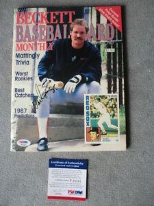 Wade Boggs Rare! signed 87' Beckett magazine Red Sox HOF PSA/DNA cert