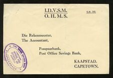 SOUTH AFRICA OFFICIAL POST OFFICE SAVINGS BANK c1960 OHMS ENVELOPE